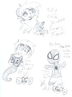 timmy Danny spiderman by Kittychan2005
