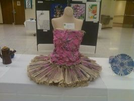 paper dress on display by rainbow-cunt