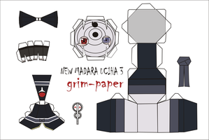 madara uciha 3 pattern by Grim-paper