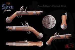The Siren: Flintlock Pistol by Paperwick