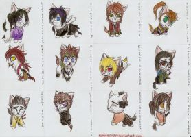 Hakuouki - all as cats by Keto-Schneider