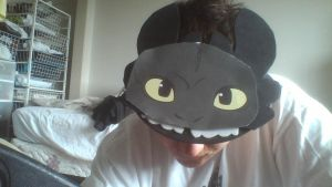 My Custom Made Toothless Visor by PokeLoveroftheWorld