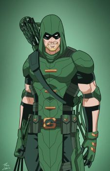 Green Arrow (Earth-27) commission by phil-cho