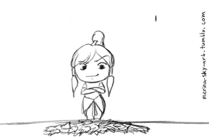 Korra Loves Leaves (Animation) by Merina-Sky