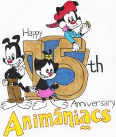 Animaniacs 15th Anniversary by nintendomaximus