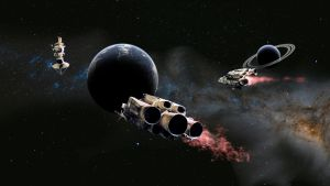 Attack ships on fire off the shoulder of Orion by Robby-Robert