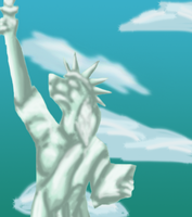 Canine Statue of Liberty by Reedflower101