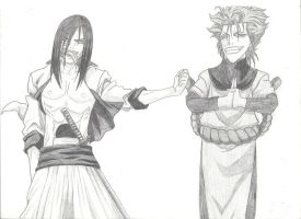 Orochimaru and Grimmjow by xRaggsokkenx
