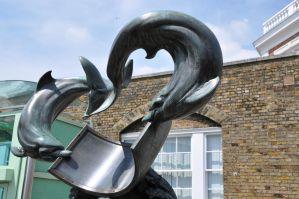 Dolphin Statue by lironk