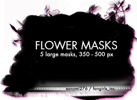 Large flower masks by Sanami276