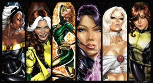 Marvel Ladies pinup 2 by AdrianaMelo