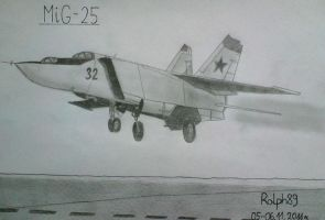 MiG-25 by Ralph1989