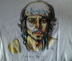 Johnny Depp  on a tee by fbforbill