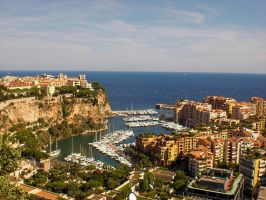 Monaco From The Gardens by ErinM2000