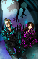 C: Space Adventure Couple by saimensez