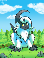 Saria the Absol by raizy