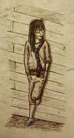 Girl Leaning on Wall by superheromichael