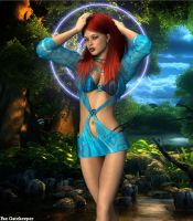 Tropical Jean Grey by faegatekeeper