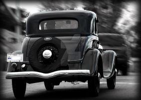 Antique Ford Motion Blur Road by houstonryan