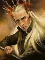 Thranduil the elven king by JeoSiri