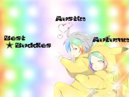 Rin and Len wallpaper Edit... Austin and Me ~ by NekoNekoPop