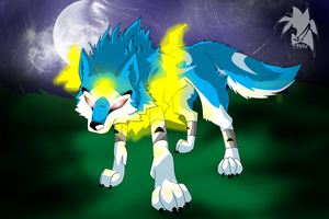 Sky MW wolf form by Fly-Sky-High