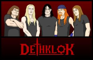 early Dethklok by zsomeone