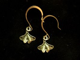 Elegant Ginkgo Earrings by TheJugulateJeweler