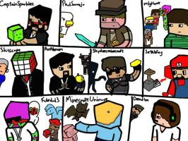 Famous Youtubers!! by ApplemintArts
