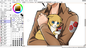 Kitty Armin? xD (WIP) by Vhenyfire