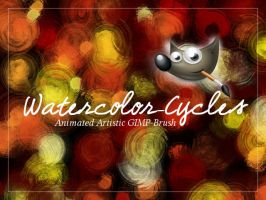 GIMP-Brush Watercolor-cycles by Chrisdesign