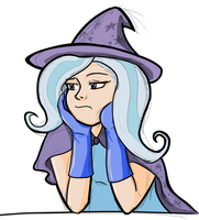 The colored and bored Trixie (still sketchy) by go4moo