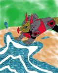 Snarl jumping into water XD by Dinobots-Club