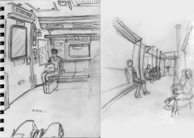 Train Sketches by JNcomix