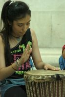 A Girl And Her Drum by CrimsonAppassionata