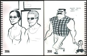 Then and Now - Caricature by wannabegeorge
