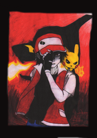 Trainer RED Pokemon (Finish) by Auracly
