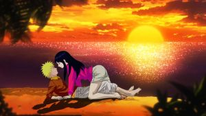 NaruHina Sunset of love by 777luck777