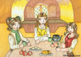 Tea at Bagends by hobbit-katie