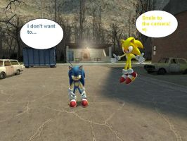 Sonic let's take a picture by Z-ONE-UNIVERSE