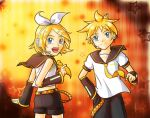 VOCALOID: Rin and Len Kagamine by MidoriGale