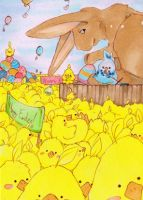 #508 ACEO happy easter by uniquorned