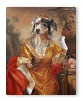 Australian Shepherd as Russian Countess by sololupo