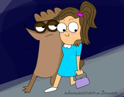 OVERPROTECTIVE RIGBY by technomaster12345678
