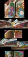 Alice in Wonderland Shoes by misy-chan