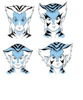thundercats 2011 style concept headshots of Bengal by KingJames06