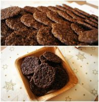 Chocolate Cookies with sesame by pandrina
