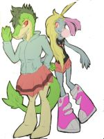 PKMNDWMA Team 2- Astrid and Bubbles by DescaKlang