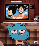 Gumball Watterson watching Dragon Ball Super by 0640carlos