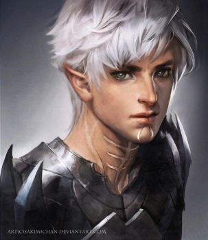 Fenris Dragon age II by sakimichan